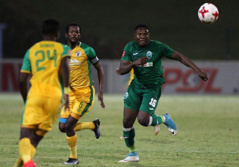 Rhulani Manzini of Amazulu  during the Absa Premiership match between AmaZulu FC and Baroka FC at Kings Zwelithini Stadium. (Photo by Anesh Debiky/Gallo Images)