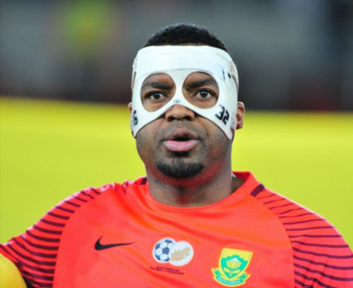 Itumeleng Khune of South Africa during the 2018 FIFA World Cup, Qualifier match between South Africa and Senegal at Peter Mokaba Stadium on November 10, 2017 in Polokwane, South Africa. (Photo by Philip Maeta/Gallo Images)
