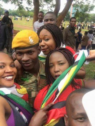 Zimbabwean Defence Force members became instant heroes. Facebook.