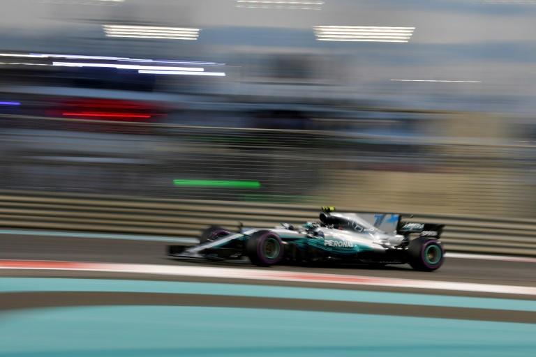 Mercedes' Finnish driver Valtteri Bottas during the Abu Dhabi Formula One Grand Prix at the Yas Marina circuit