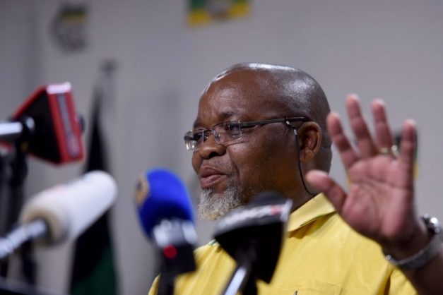 Gwede Mantashe briefs the media on the outcomes of the special National executive Committee meeting at Luthuli House, 14 November 2017. Picture: Tracy Lee Stark