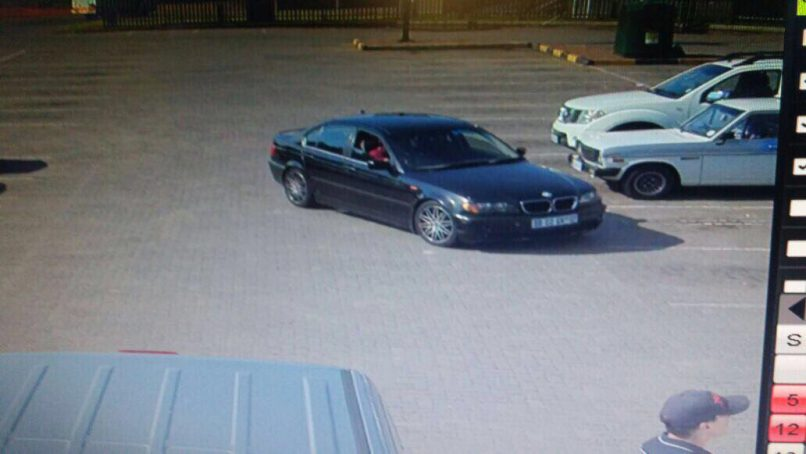 ONE of the getaway vehicles caught on CCTV footage.