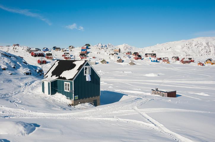 Greenland, snow