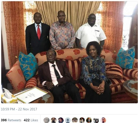 A screenshot of a picture shared on Twitter by Quinton Mtyala.