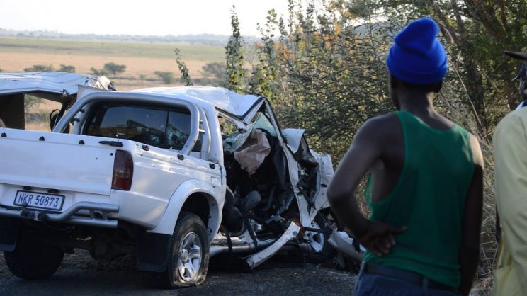 The aftermath of a taxi shooting on the N11 near Ladysmith in KwaZulu-Natal in November 2017, in which 11 people were killed. Picture: Supplied