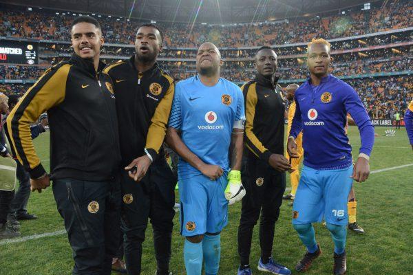 Kaizer Chiefs goalkeepers Brylon Lee Petersen, Bruce Bavuma, Itumeleng Khune and Brilliant Khuzwayo. (Photo by Frennie  Shivambu/Gallo Images)