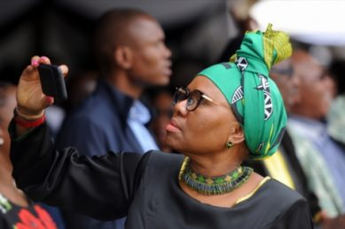 WATCH: That time Lindiwe Zulu asked the media to stop following Bathabile around