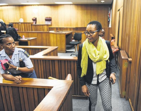 KILLER SMILE: Rehithile Matjane, convicted of murdering her own two sons, is seen leaving court after a bail hearing yesterday. Picture: Jacques Nelles