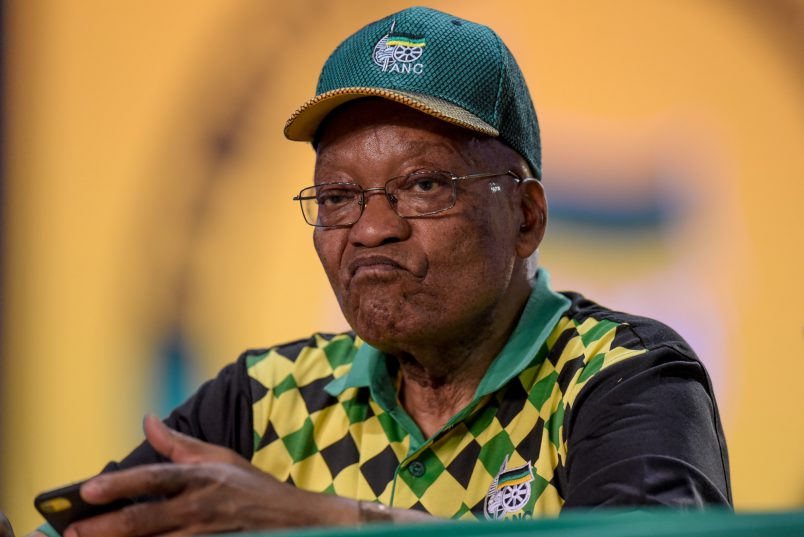 Former ANC President Jacob Zuma sits during nominations at the ANC's 54th National Elective Conference at Nasrec, Johannesburg, on 17  December 2017. The ANC gathers to elect new leadership, including a new party president for which Cyril Ramaphosa and Nkosazana Dlamini-Zuma are the candidates. Picture: Yeshiel Panchia