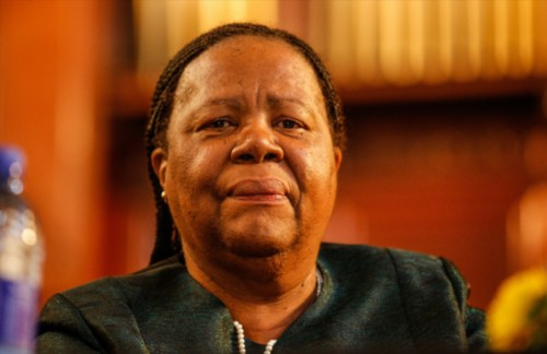 Science and Technology Minister Naledi Pandor.  (Photo by Gallo Images / Sunday Times /Simphiwe Nkwali)
