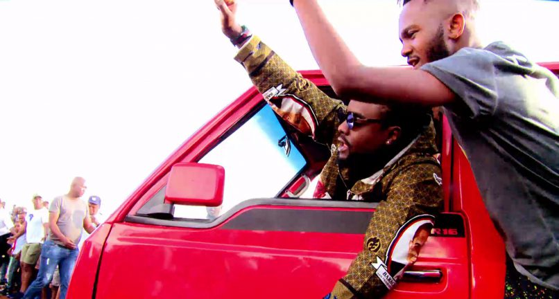 Kwesta & Wale during the shoot of their music video