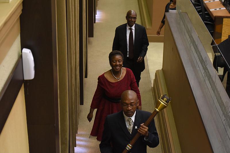 Speaker of Gauteng Legislature, Honourable Ntombi Mekgwe.