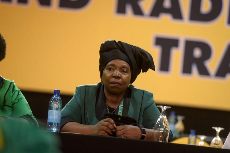 Presidential hopeful Nkosazana Dlamini-Zuma sits before the first plenary at the ANC National Elective Conference at Nasrec, Johannesburg on 16 December 2017. Dlamini-Zuma is seen as one of the leading candidates alongside current Deputy President Cyril Ramaphosa. Picture: Yeshiel Panchia