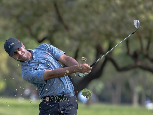 Shubhankar Sharma of India during the day 2 of the Joburg Open at Randpark Golf Club on December 08, 2017 in Johannesburg, South Africa. (Photo by Gordon Arons/Gallo Images)