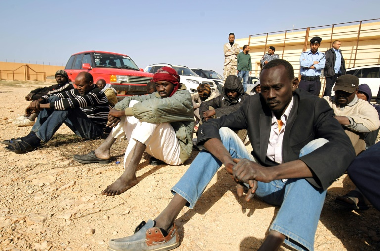 Sub-Saharan migrants in the southern outskirts of Benghazi, Libya, have been waiting to be repatriated