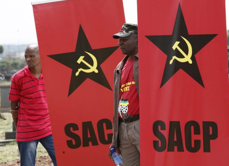 There is a fallout between alliance partners the South African Communist Party and the governing ANC. EPA/Kim Ludbrook
