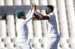 Elgar chuffed Titans mate Ngidi could catch India's big fish