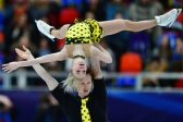 Russian figure skating duo defend pairs, teen upstages queen