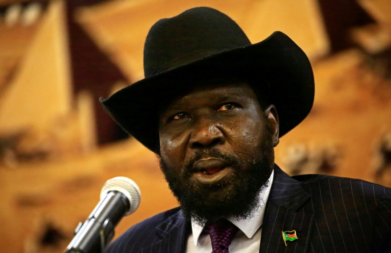 """US Ambassador Nikki Haley told the Security Council that the government of President Salva Kiir (seen here) was """"increasingly proving itself to be an unfit partner"""" in efforts to restore peace to South Sudan"""