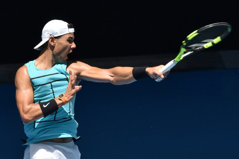 """A knee injury forced Spanish world number one Rafael Nadal out of the warm-up Brisbane International, but he said he """"feels good"""" after intensive practice in Melbourne"""