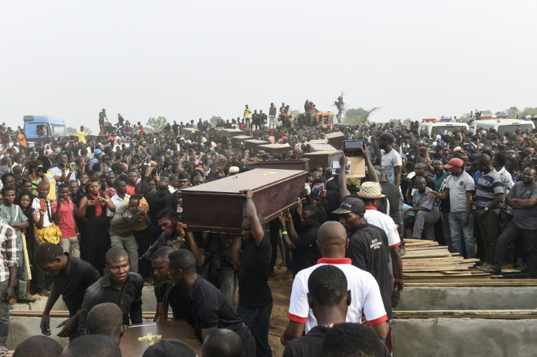 A mass funeral was held on January 11 in Makurdi, the capital of Benue state, for people killed in clashes between cattle herders and farmers