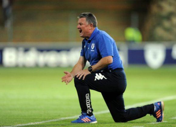 Gavin Hunt coach of Bidvest Wits  during the Absa Premiership match between Bidvest Wits and Free State Stars at Bidvest Stadium. (Sydney Mahlangu/BackpagePix)