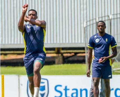 Lungi Ngidi and Kagiso Rabada will bowl together. Photo: Sydney Seshibedi/Gallo Images.