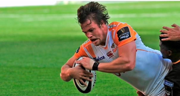 Nico Lee has a profitable day for the Cheetahs. Photo: Pro14.