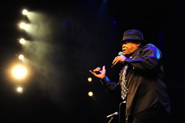 Hugh Masekela performs at the Soweto Theatre as part of his 75th Birthday Celebrations, 10 September 2014. The University of Johannesburg in partnership with the wRite Associates hosed the first inaugural Hugh Masekela Annual Lecture on the 9th September 2014 and then the Concert. Picture: Tracy Lee Stark