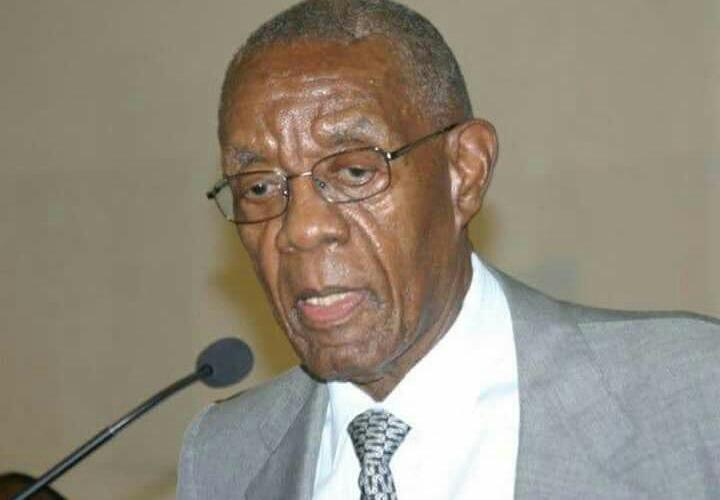 Former Bophuthatswana leader Lucas Mangope.