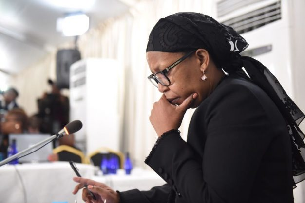 Former Gauteng health MEC Qedani Mahlangu sits to give testimony at the Life Esidimeni arbitration hearings in Parktown, 22 January 2018. Picture: Refilwe Modise
