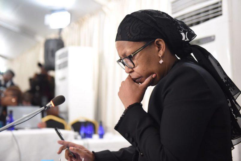 Former Gauteng health MEC Qedani Mahlangu sits to give testimony at the Life Esidimeni arbitration hearings in Parktown, 22 January 2018. Picture: Refilwe Modise