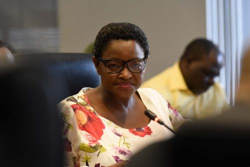 Minister of Social Development, Bathabile Dlamini during the inquiry into the Ministers role in the social grants crisis as per the Constitutional Court order at th office of the Chief Justice in Midrand, 22 January 2018.  Picture: Neil McCartney