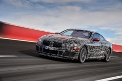 New BMW 8 Series Coupe undergoes vehicle dynamics testing on racetrack
