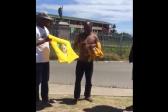WATCH: Zuma supporter forced to wear Ramaphosa T-shirt
