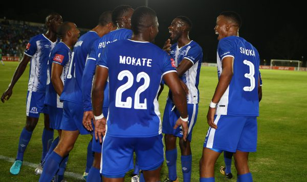 Maritzburg United players celebrates a goal during the Absa Premiership match between Maritzburg United and Bloemfontein Celtic at Harry Gwala Stadium.(Photo by Steve Haag/Gallo Images)