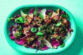 Recipe: Toasted cheesy ciabatta with fillet carpaccio and pesto salad
