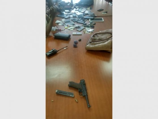 The items recovered by the SAPS.