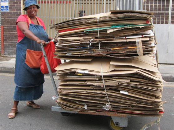 Informal recycling provides many people with a source of income. Households in Johannesburg are being encouraged to recycle.