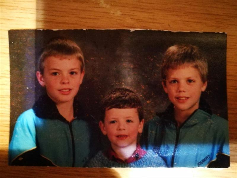 When they were young. From the left are: Johan, Hein and Bertie Gebhart.