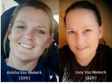 Burnt bones believed to be those of Joey van Niekerk, 32, and Anisha van Niekerk, 30, were found in the bushes near Mooinooi. Photo: SAPS