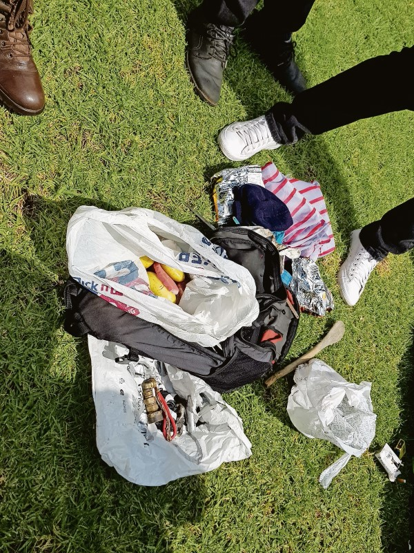 The suspect caught at Highveld Park on Tuesday, January 9 for stealing a water meter. (Photo: Melissa Nel)