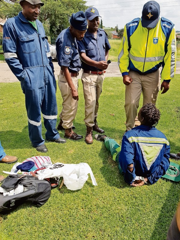 nside the suspects bag were copper items, tools and gloves. He was caught stealing a water meter at Highveld Park on Tuesday, January 9. (Photo: Melissa Nel)