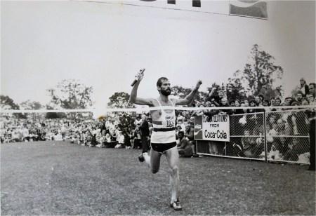 Piet Vorster's 1979 Comrades win. Photo: The Marathon.