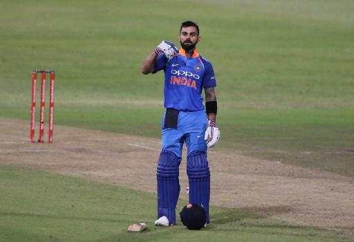 Who's da man? Virat Kohli rattled the Proteas' cage again as he led India to a superb win. / AFP PHOTO / ANESH DEBIKY