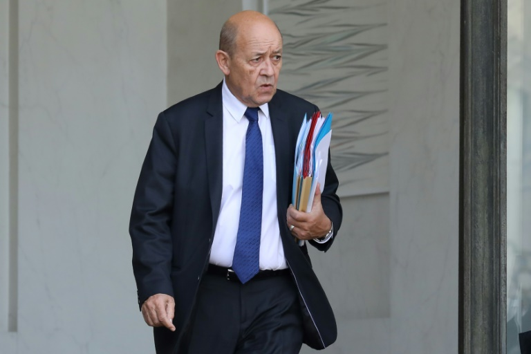 France's Foreign Minister Jean-Yves Le Drian visited Iraq to discuss reconstruction and to meet Prime Minister Haider al-Abadi, President Fuad Massum and parliament speaker Salim al-Juburi