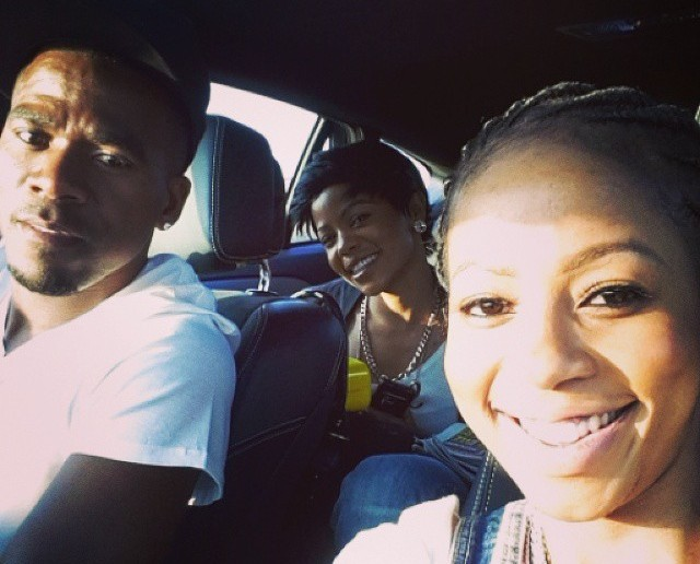 """A photo posted by singer Kelly Khumalo with murdered soccer star Senzo Meyiwa on her Instagram account on 26 October. The caption reads: """"My sister photo bombing our picture"""". Picture: Kelly Khumalo/Instagram"""