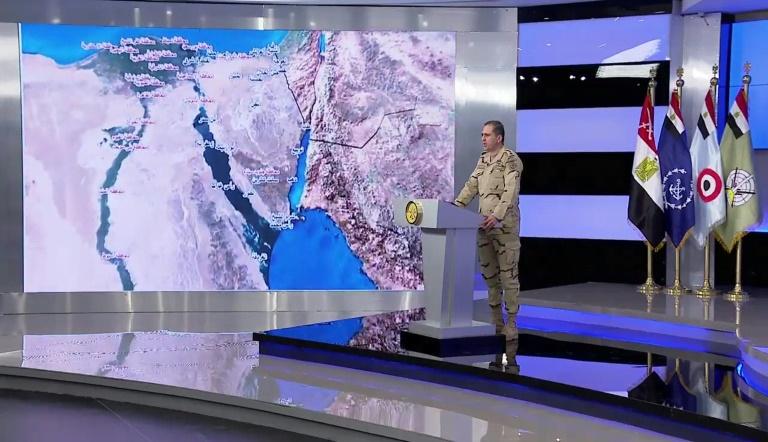 Egyptian army spokesman Colonel Tamer al Rifai announces the launch of a major operation against jihadists