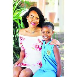 Amahle Zondi (10) with her teacher Judith Dunn