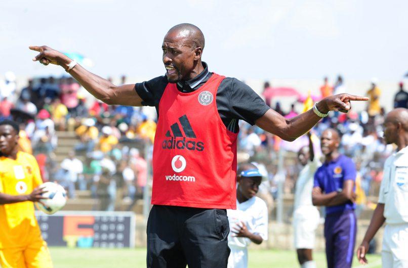 Orlando Pirates assistant coach Benson Mhlongo (Aubrey Kgakatsi/Backpagepix)